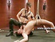 Sex Slave Gets His Ass Pierced By An Anal Hook After Being Force