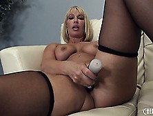 Mellanie Monroe,  A Blonde Milf With Huge Tits And A Big Round As