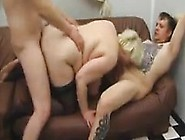 Fat Woman With Two Horny Guys In A Threesome