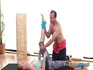 Hot Flexible Teen Bangs Yoga Coach