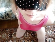 Blindfolded Girl Sucks Cock Plays With Her Tits And Has Doggysty