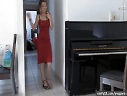 Emily18 Video: Red Dress On Sexy Teenager