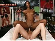 Thin Petite Ebony Beauty Rides Bwc