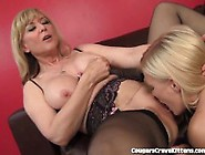 Nina Hartley Gives Teen Her First Lesbian Orgasm
