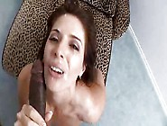 Milf Lets Black Cock Nut On Her Face (Pov)