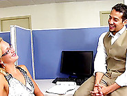 Cubicle Fucking With A Fit Blonde And Her Big Dick Coworker