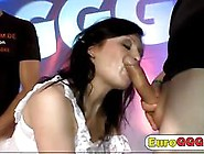 Cute Euro Girl Is Fucked In A 3Some On The Couch