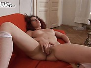 Sleaze Bodied Scarlet Head Climaxes Onto The Bed