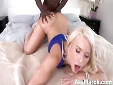 Anikka Albrite Takes On A Monster Black Cock