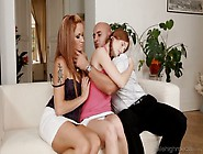 One Kinky Couple Fuck Sweet Looking Red Haired Teen Denisa Heave