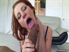 Redhead Frankie Vargas Nibbles On A Giant Bbc