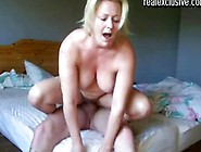 Sexy Blonde Mature Riding An Inked Up Amateur