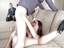 Luscious Milf Gets Her Cunt Pounded While Husband Watches