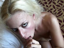 Sultry Blonde Has A Hung Guy Plowing Her Ass And Cumming On Her