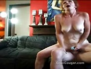 Mature Babe Hurts Hip Riding Cock Just Kidding She Is Loving It