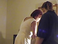 Mother Spanks Her Two Step-Daughters