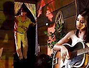 Latina Entertainer Plays Skin Flute Mc169