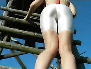 Tight Shorts Sexy Huge Ass In White Spandex Part 2 Hd 790