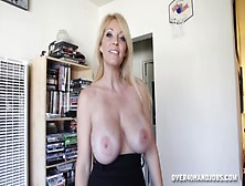 Milf Stroking A Big Cock To Facial