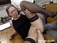 Blonde Is Fisted,  Takes Double Penetration In Hardcore Threesome