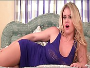 Blonde Babe Brook Little Sensually Fingers Pussy