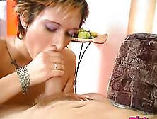 Astonishing Short-Haired Girl Sits Down On Her Partner's Cock