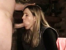 Wife Gives Swallows And Skilled Bj All
