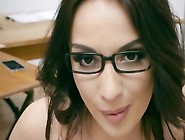 Busty Teacher Anissa Kate Plays With Students Cock