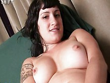 Stacey - Amateur Hairy Pussy Solo Masturbation