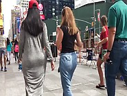 Big Candid Arab Booty Street Walking