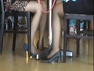 Candid Asians Hot Shoeplay Feet In Stockings At Airport