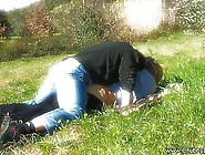 Naughty Amateur Couple Is Making Love In The Nature,  On The Gras