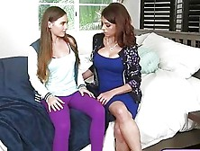 Gorgeous Mom Lesbian Sex With Tight Brunette Teen Skye West