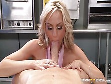 Snazzy Busty Mom Sindy Lange Is Sucking My Cock