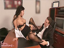 The Secretary Asa Akira Takes Care Of Kris Slater's Sex Issues