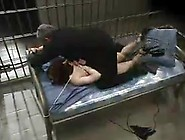 Red Head Pussy Has Bound Up And Hosed Inside The Prison Ward