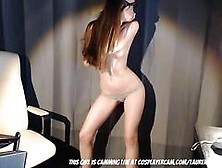 Nerdy Comic Book Girl Dancing For Her Classmate