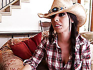 Leggy Cowgirl Brandy Aniston Gives Unforgettable Deepthroat Blow