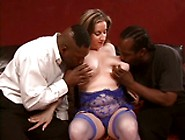 Two Black Guys Fuck A Big Titted Fatty
