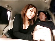 Young Asian With Long Nails Gives A Handjob In The Car