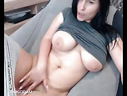 Yummy Brunette Gets Her Tight Pink Pussy Wet