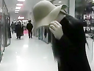 Dirty Gf Walks Mall W/ Cum On Her Face