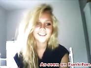 Hot Blonde Teen Strips And Shows Off Her Body