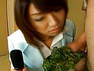Dirty Mitsu Anno Gives A Blowjob At The Restaurant