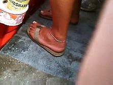 Candid Flip Flop Feet