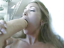 Milf Big Dildos And Rides Sybian To Great Orgasm