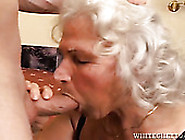 Grey Haired Grannie Enjoys Sucking Big Fresh Cock While Her Husb