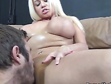 Blonde Whore Nikita Von James Boobjob Her Hunky Man Big Erected