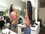Skinny 18 Year Old Alina Li Preparing Herself For A Shoot