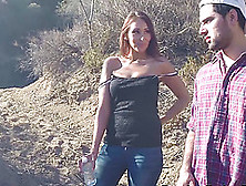 Latina Gets Fucked Hard Outdoors By The Border Patrol Man